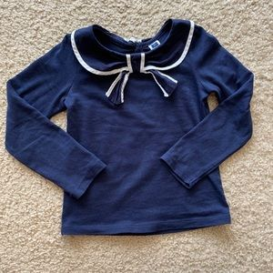 Janie and Jack long sleeve top size 4 girls